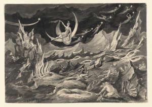 Peinture Voyage dans la Lune de Georges Méliès