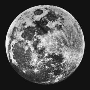 Première photographie de la Lune réalisée par John William Draper en 2840.