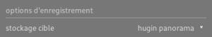 Stockage cible vers Hugin depuis le module exportation de darktable